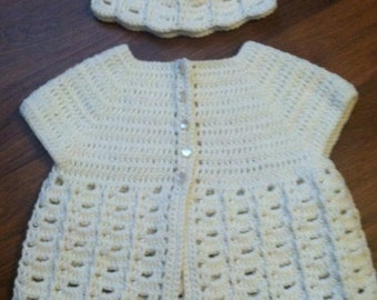 Spring Sweater Set for Toddler Girl, 9 to 12 Months, Girl's Easter Outfit, Wedding, First Birthday, Christening