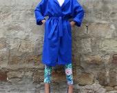 Blue Cashmere Oversized Coat, Maxi Coat, Fall Winter Clothng, Plus size clothing, Chic Coat, Sporty Coat