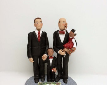 Christmas Family Sculpture / Portrait from Your Ideas and Photos