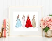 Oscar Dresses Digital Download 11x14 Fashion Print // Resizable for 4x6, 5x7, 8x10
