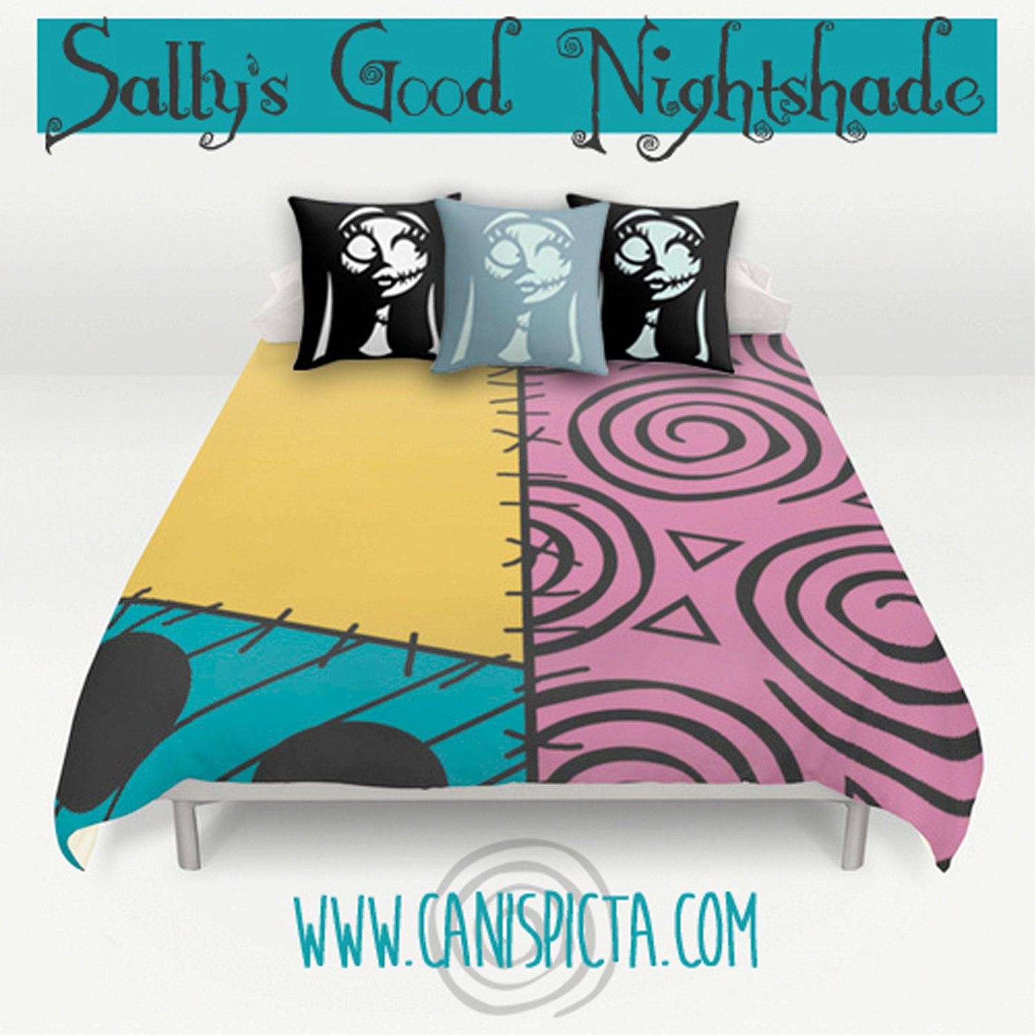 nightmare before christmas bedding duvet sally skellington bed
