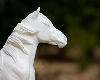 Camargue Mare UNPAINTED Resin Model Horse Sculpture Figurine Kit Blank Unfinished DIY Paint it Yourself Gift for Horse Lover