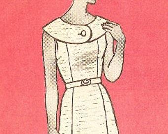 Marian Martin 9241 Vintage 1960s Mail Order Sleeveless Dress Sewing Pattern