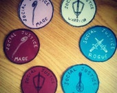 social justice class patches - warrior, rogue, bard and mage available