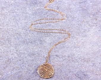 Long Gold necklace / Filigree necklace / Long Layered necklace / 14k Gold filled necklace / Sterling silver / Minimalistic necklace   Mystis