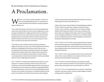 The Emancipation Proclamation: An 18- by 24-inch (46 × 61 cm) digital download