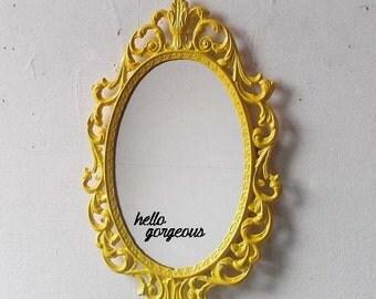 Hello Gorgeous Mirror Decal // Mirror Decal // Vinyl Decal // Bathroom Decor // Bathroom Decal // Hello Gorgeous // Mirror Sticker // Decal