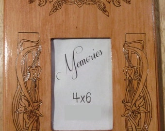 Floral Themed Handmade wooden picture frame