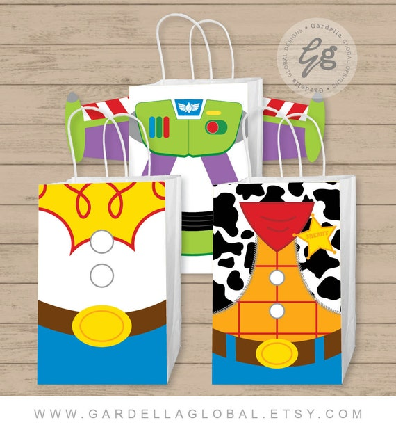 Gift Bag Toys : Toy story gift bag fronts birthday party