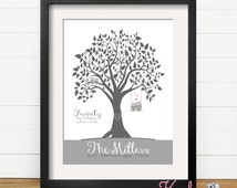 Personalized Family Tree, Gift for Mom, Family Art Print, Family Wall Art, Personalized Family Art, Personalized Home Decor, Owl Art