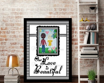 Interracial Love is Beautiful 8x10 download