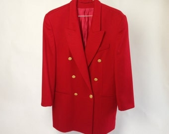 Red Blazer 80s
