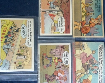 Lot of 5 Vintage Postcards - Funny Risque