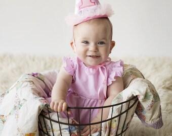 Girls First Birthday Hat - Girls Birthday Hat