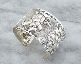 Blossoming and Blooming Sterling Silver Cuff  2881HK-N