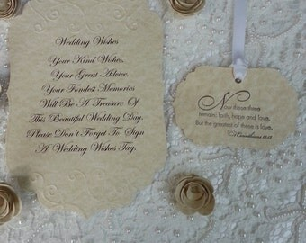 100 WISH TREE TAGS  Fairytale Styles Adorned With A White Satin Ribbon