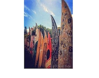 Surfboard photo, surfboard fence, surfboard wall art, surfboard decor, surf art, beach house decor, gifts for surfers