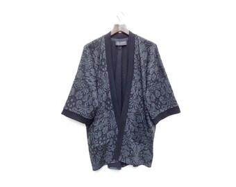 Jersey Kimono, Grey Black Kimono, Lightweight Jacket, Unique Bohemian Clothing, Relaxed Cardigan, Bohemian Fashion, Jersey Cardigan