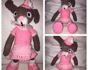 Girl Bunny with Skirt (made to order)
