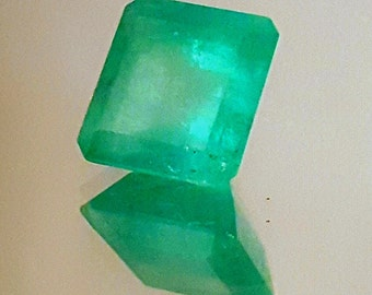 Natural Colombian Emerald Gemstone- 4. 9cts -Muzo Mine -Untreated -Medium Green - Emerald Cut -May Birthstone -Emerald Ring Gem - On Sale