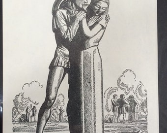 Vintage Lithograph Print of The Winter's Tale / by Rockwell Kent