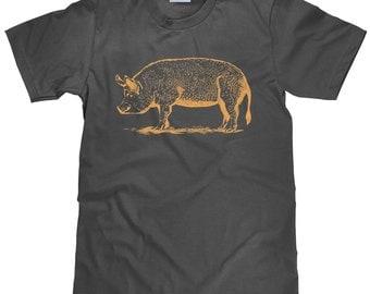 Animal Lover T Shirt - Pig T Shirt - Vegan Tee Shirt - Item 1941