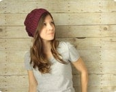 SALE - Cabled Slouchy Hat - Isle Royale