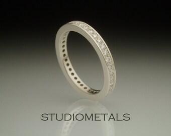 Real Diamond Ring, Eternity Ring, Diamond Eternity Band, Pave Diamond Ring, Diamond Wedding Band, Eternity Ring White Gold, R123