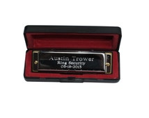 Personalized Stainless Steel Harmonica - Groomsmen Gift - Best Man- Fathers Day - Ring bearer - Engraved - Customized - Monogrammed for Free