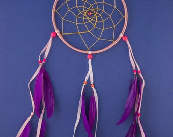 Dream Catcher Red stone. HandMade Dream Catcher