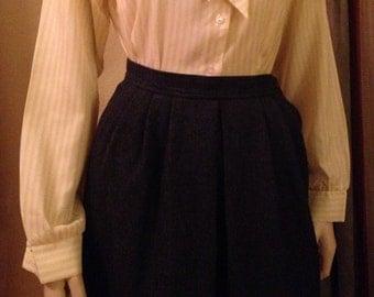 Great Vintage Grey Wool Pendleton Skirt