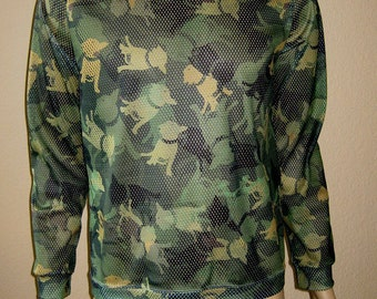 CAMO Dogue  PITBULL TERRIER sport Mesh PulloverTShirt