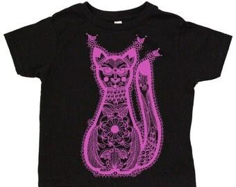 Ornamental Cat : 100% cotton jersey toddler tee