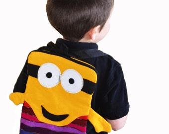 Kids backpack/ Minions backpack/ Girls boys backpack/ Ikat backpack/ Guatemalan backpack/ Tribal multicolored backpack/Small ethnic rucksack