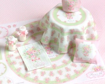 DO IT yourself! Kit tablecloth 1:12 for dollhouses