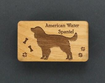 Original Design American Water Spaniel Wood Magnet