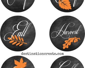 Fall Gift Tags & Give Thanks Place cards, Fall printables, Thanksgiving printables, Fall tags, Chalkboard printables, Autumn Printables