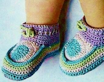 Crochet Baby Booties Vintage Crochet Pattern Download