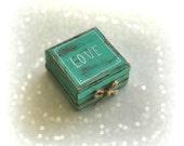 Rustic Engagement  ring box, Anniversary gift, Proposal ring box, Ring pillow box, Personalized ring box, Wedding ring pillow