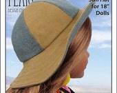 "L&P #1017: California Girl Sun Hat Pattern for 18"" Dolls"