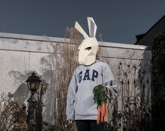 Hare or Rabbit Mask - Make your own with this simple PDF pattern