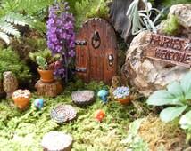 Fairy Door,Fairy Garden Kit,Fairy Door Kit,Fairy Door Set,Color Choices,Gardeners Gift,Mothers Day Gift,Fairy Garden Decor,Stone