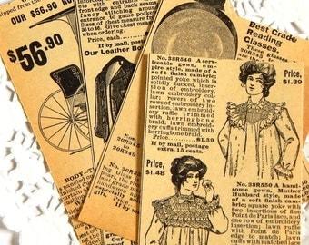 Vintage Sears Roebuck Catalog Ephemera Pack. Old Book Pages. Journal Ephemera. Collage Kit. Vintage Journal. Junk Journal Supply. Paper Pack
