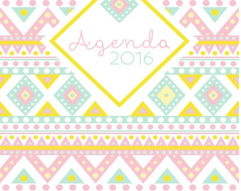 Agenda 2015-2016 cake - Descarga Directa - 2016 Daily Planner - INSTANT DOWNLOAD - printable PDF