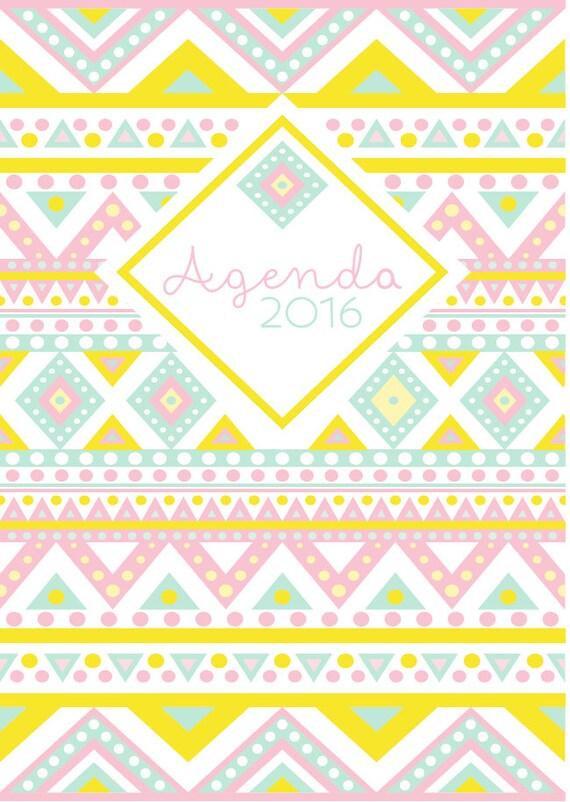Agenda 2015-2016 Pastel - Descarga Directa - 2016 Daily Planner ...