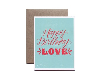 Happy Birthday Love, Birthday Card