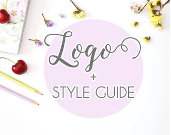 Style guide and logo design, business brand logo design, custom, photography
