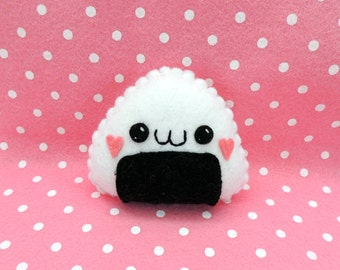 Felt Kawaii Sushi Onigiri Rice Plush