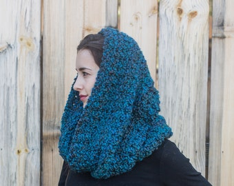 Infinity Scarf // Vegan Infinity Cowl // Gifts for Her // Turquoise Scarf // THE MADELEINE shown in Lagoon