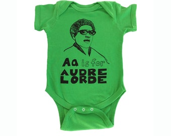 Feminist Onesie: AUDRE LORDE Baby Onesie & Screen print // Baby Shower // Birthday gift